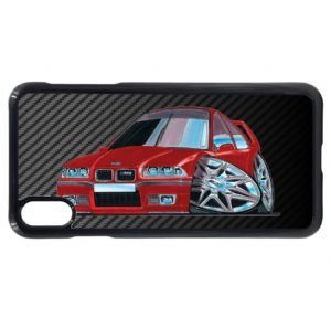 Koolart Carbon Fiber Fibre & Retro 3 Series E36 M3 car Image Mobile Phone Case Fits iPhone